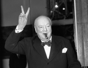 POLITICS - WINSTON CHURCHILL - V SIGN