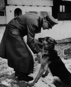 Adolf Hitler and German Shepherd